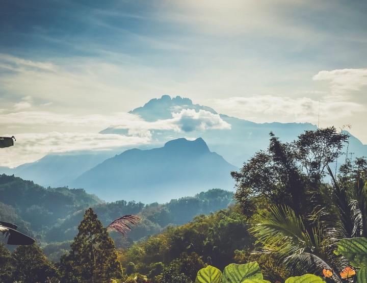 Beklim Mount Kinabalu in Maleisisch Borneo