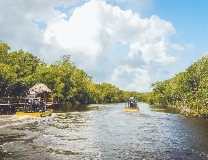 Vaar met een Airboat op de Everglades
