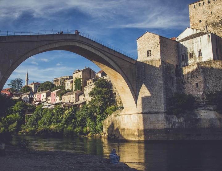 De Oude Brug van Mostar in Bosnië en Herzegovina