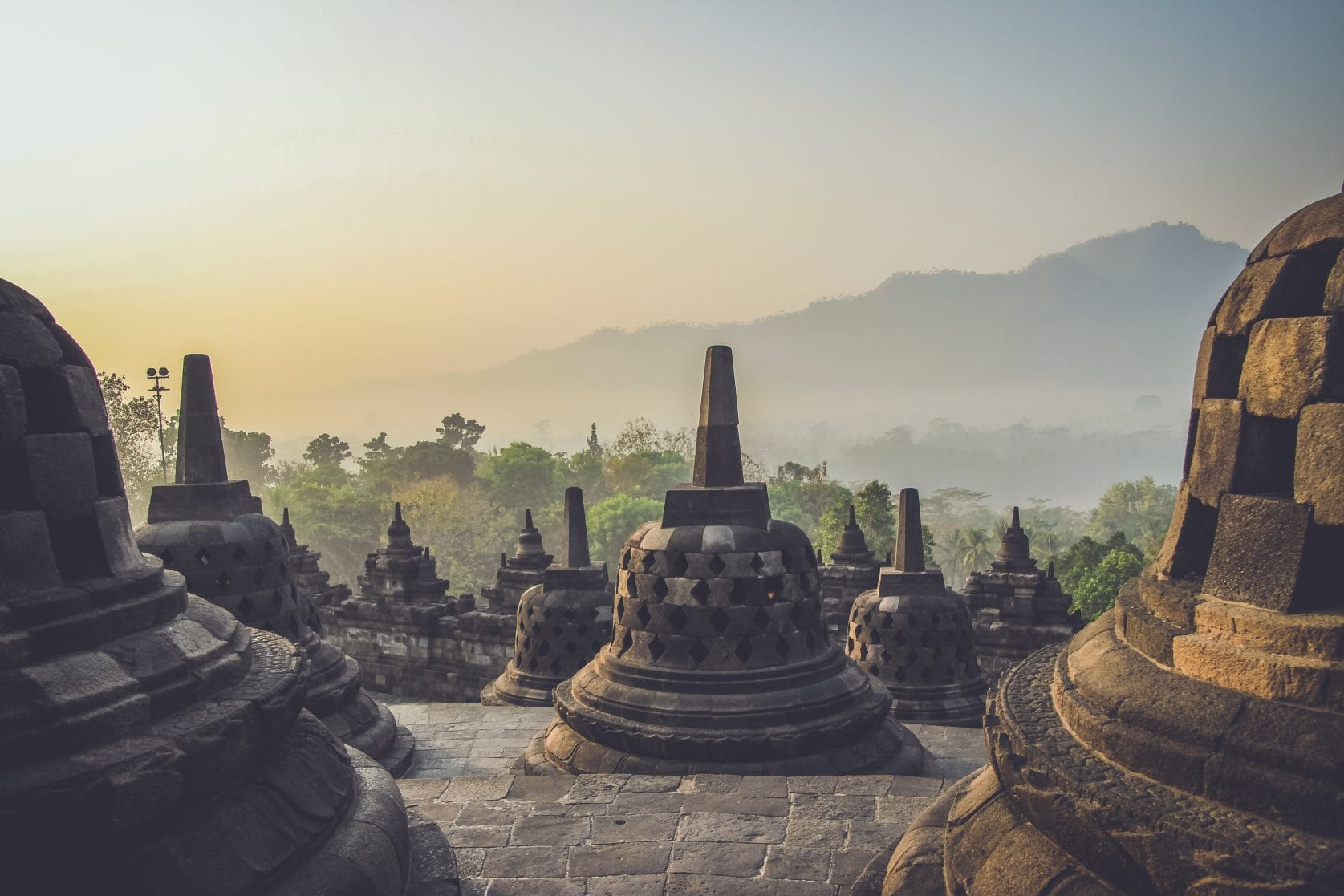 borobudur indonesië