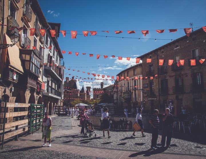 Fotoverslag: Ieder weekend feest in Olite, Navarra