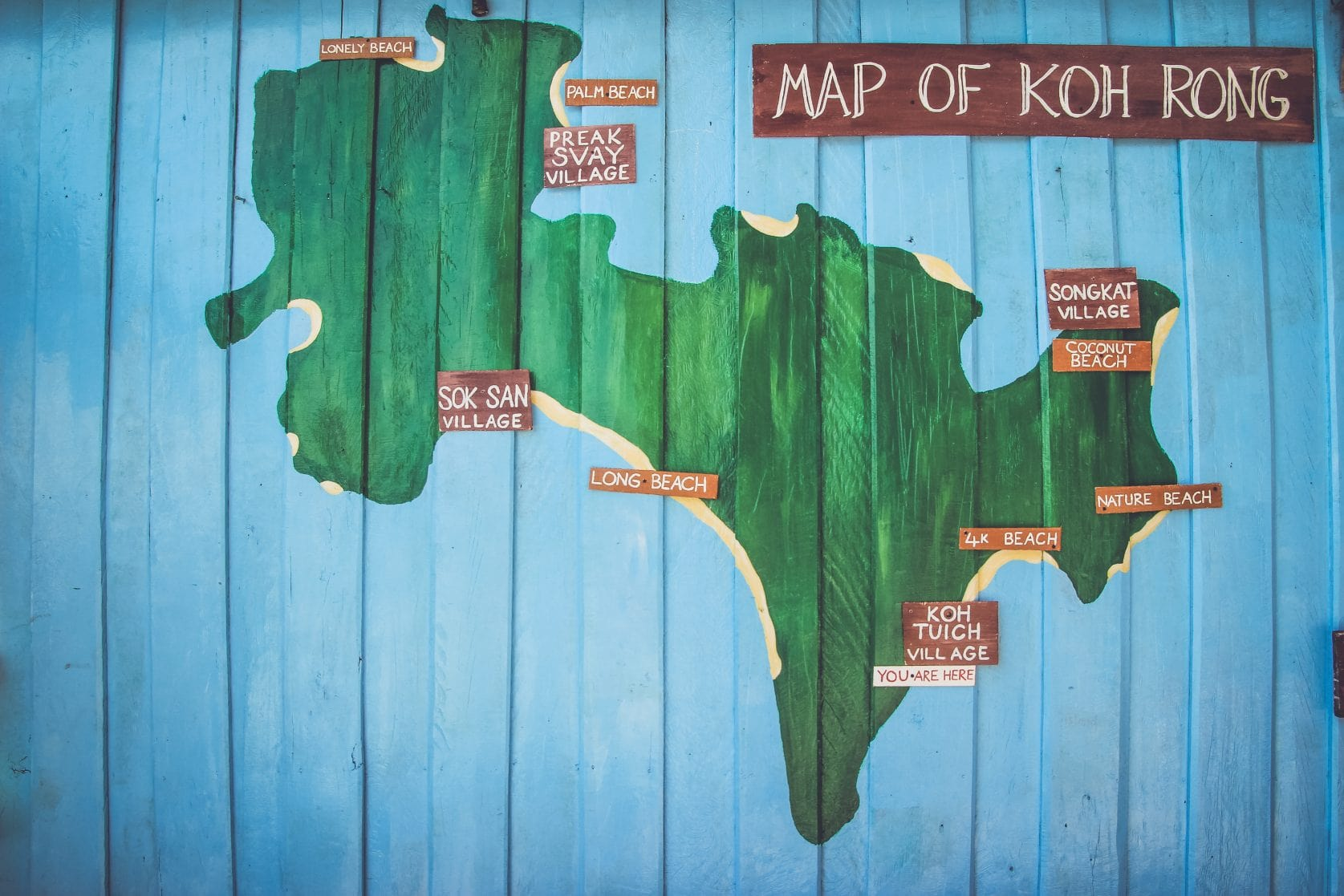 map of koh rong
