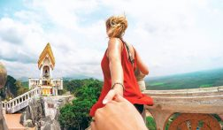 Beklim de 600 meter hoge Tiger Cave Tempel in Thailand