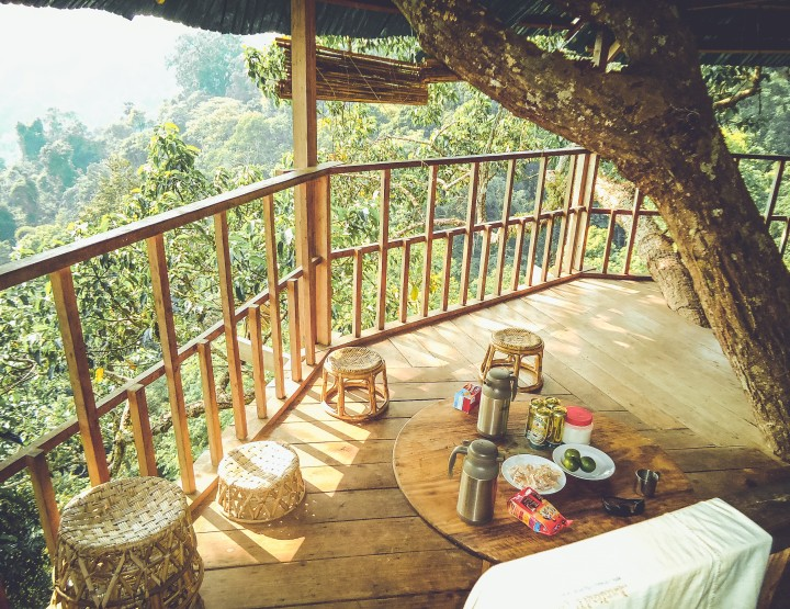Slaap in een boomhut van The Gibbon Experience in Laos