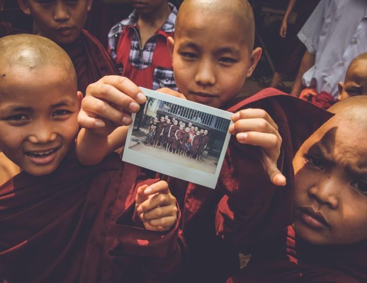 Reizen met een polaroid camera