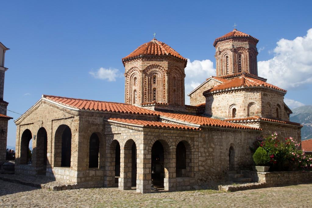 Het klooster van Sint Naum aan het meer van Ohrid