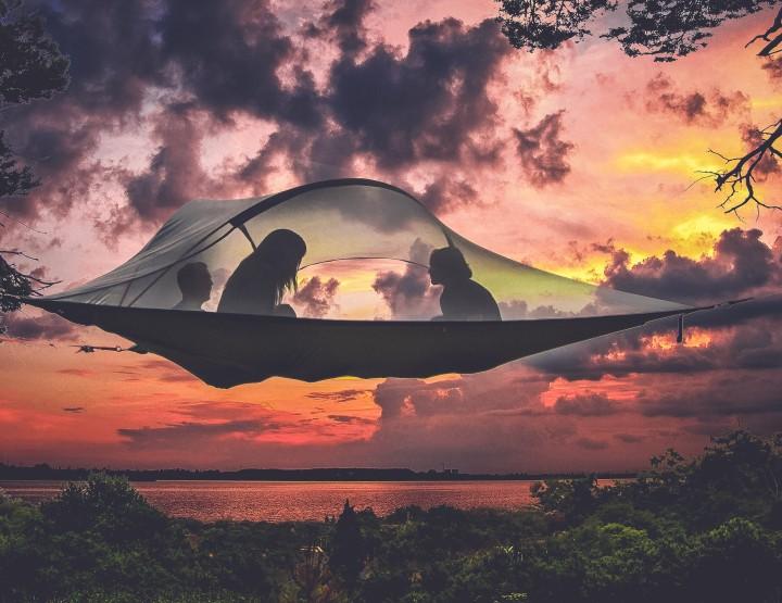 Ultiem kamperen met een 'zwevende' tent